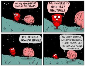 Heart and Brain Ponder The Universe
